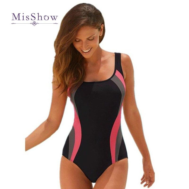 Damen Bikini Bademode Stringbody Badeanzug Einteiler Rückenfreie Schwimmanzug