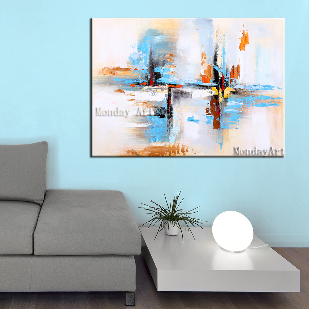 38 Wall-Art-Hand-Painted-Modern-Abstract-Blue-Oil-Painting-Wall-Decorative-Canvas-Art-Picture-for-living (2)