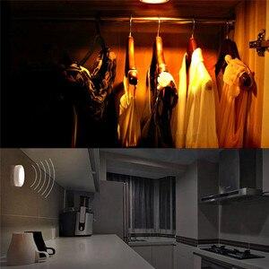 Image 3 - Luz noturna com bateria de led pir, sensor de movimento, magnético, sem fio, para armário, escada, para parede, para iluminação do corredor