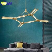 Nordic Art Chandelier PRIS Lighting Baton Aluminum LED Chandelier Hanging Lights Living Room Restaurant Gold Light