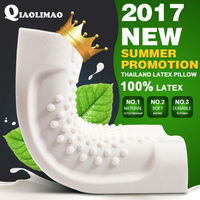 Natural Latex Pillow Bed Cervical Orthopedic Pillow Sleeping Bedding Massage Particles Pillows Neck Wave Memory Foam