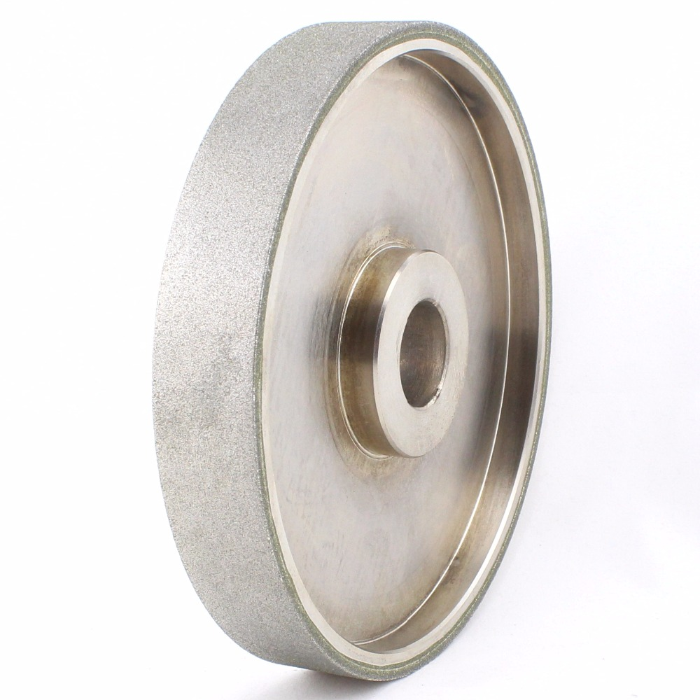 6 inch Grit 46-2000 Facing Diamond Grinding Wheel Coated Bore Size 1 W Bushing Arbor 3/4 5/8 Lapidary Tools for Stone 2pk diamond double row grinding cup wheel for granite and hard material diameter 4 5 115mm bore 22 23mm with 16mm washer