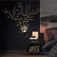 Phube освещение художественные медные ветки настенный светильник рога настенный светильник вилла отель клуб Спальня прикроватный настенный