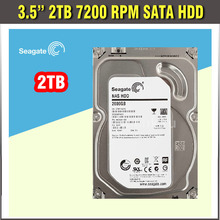 HDD 2TB SATA 3.5 (2000G) 7200RPM SATA Hard Disk Drive for CCTV DVR or Computer PC with hight quality HDD