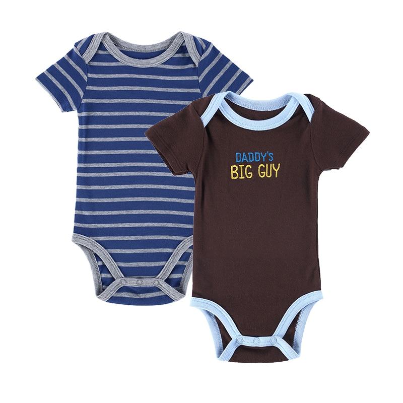 2017 Baby Bodysuits 2Pcs/lot Boys Girls Clothes Body Newborn Short Baby Clothes Cotton Infant Jumpsuit Nest Clothing Sets