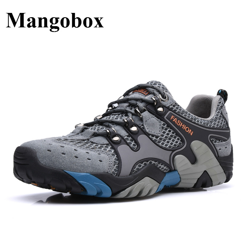 Mens Walking Shoe Hard-Wearing Shoes Men Trekking Anti-Slippery Mountain Men Trainers Breathable Mens Sports Shoes Sneaker mans shoes mountain big size brand shoe men sport anti slippery hiking shoes mens good quality outdoor hiking trainers