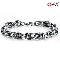 Titanium Steel link Chain Bracelet, Fashion Cable Bracelet. 2