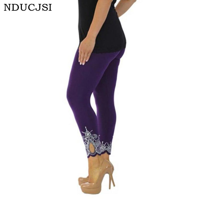 NDUCJSI Plus Size 5XL High Waist Black Fitness   Leggings   Plump Female High Quality Cotton   Leggings   2018 Women Casual   Legging   Pant