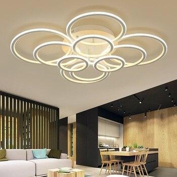 Mis en évidence à l'intérieur et à l'extérieur de la lumière anneau LED plafonnier salon chambre Restaurant étude bureau passerelle plafonniers|Plafonniers| |  -