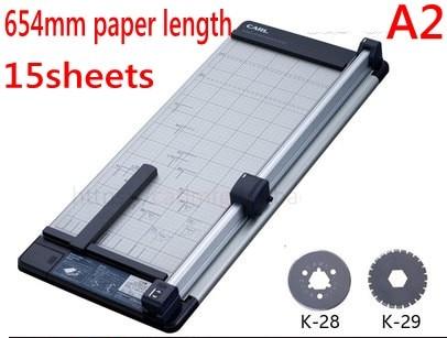 A2 méret 654mm Kézi forgó papír vágó vágó egyenes vágógép - Irodai elektronika