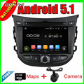 7 ''quad core android 5.1 gps do rádio de carro para hyundai hb20 2013 Com Vídeo DVD Estéreo Espelho Ligação 16 GB FLash Frete Grátis