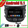 7 ''quad core android 5.1 radio de coche gps para hyundai hb20 2013 Con DVD de Vídeo Estéreo Espejo Enlace 16 GB FLash Envío Gratis