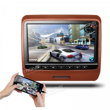 XTRONS Brown 9 inch HD Digital TFT Display screen Leather-based Styled Automobile Headrest DVD Participant with HDMI Port automotive stereo