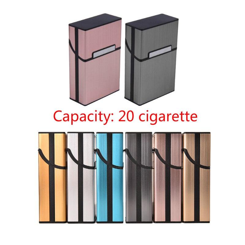 Personality Creative Aluminum Smoking Cigarette Case Fashion Men Cigar Tobacco Holder Pocket Box Storage Container Gift Box