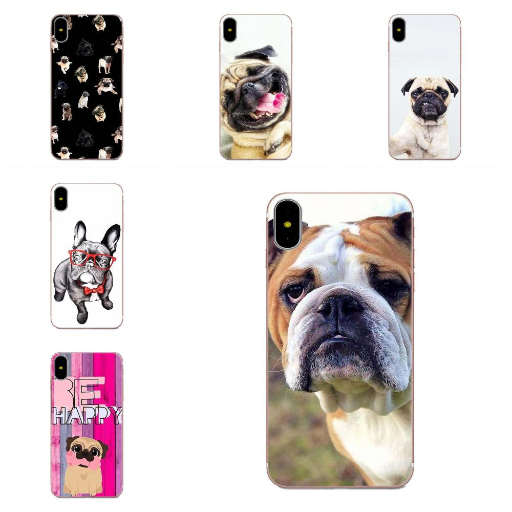 For <font><b>Xiaomi</b></font> Redmi <font><b>Mi</b></font> Note 7 8 9 SE Pro Lite Go Play Soft Silicone TPU Transparent Pattern Phone <font><b>Cover</b></font> Case <font><b>Pugs</b></font> Dog Fashion image