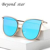 Beyond Star Women Sunglasses High Quality Cat Eye Sunglasses Brand New Designer Metal Frames Sunglasses Oculos