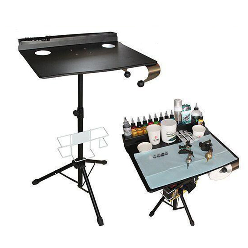 Detachable Tattoo Desk Table Portable Compact Stand With Ink Box Height Adjustable Body Art Permanent Makeup Tattoo Accessories