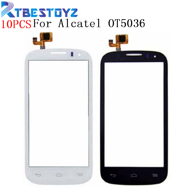 10PCS Touch Screen For <font><b>Alcatel</b></font> One Touch POP C5 5036 Touchscreen OT 5036 <font><b>5036D</b></font> 5037E OT5036 Glass Outter Panel Front Digitizer image