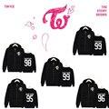 KPOP TWICE  Fashion sweatershirt  harauku suit spring Autumn long sleeve zipper hoodies Sana Mina Ji Hyo Na Yeon  Tzuyu