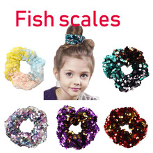 2019 fashion explosion mermaid sequins hair accessories turned adult children fish scale band