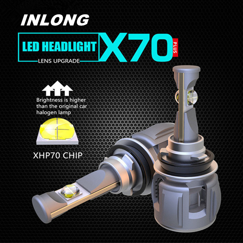 Inlong 2Pcs H4 H7 Car LED Headlight Bulb H11 H8 9005 9006 HB4 H9 D4S D2S D1S  XHP70 Chips 120W 15600LM Headlamp Fog Lights 6000KInlong 2Pcs H4 H7 Car LED Headlight Bulb H11 H8 9005 9006 HB4 H9 D4S D2S D1S  XHP70 Chips 120W 15600LM Headlamp Fog Lights 6000K