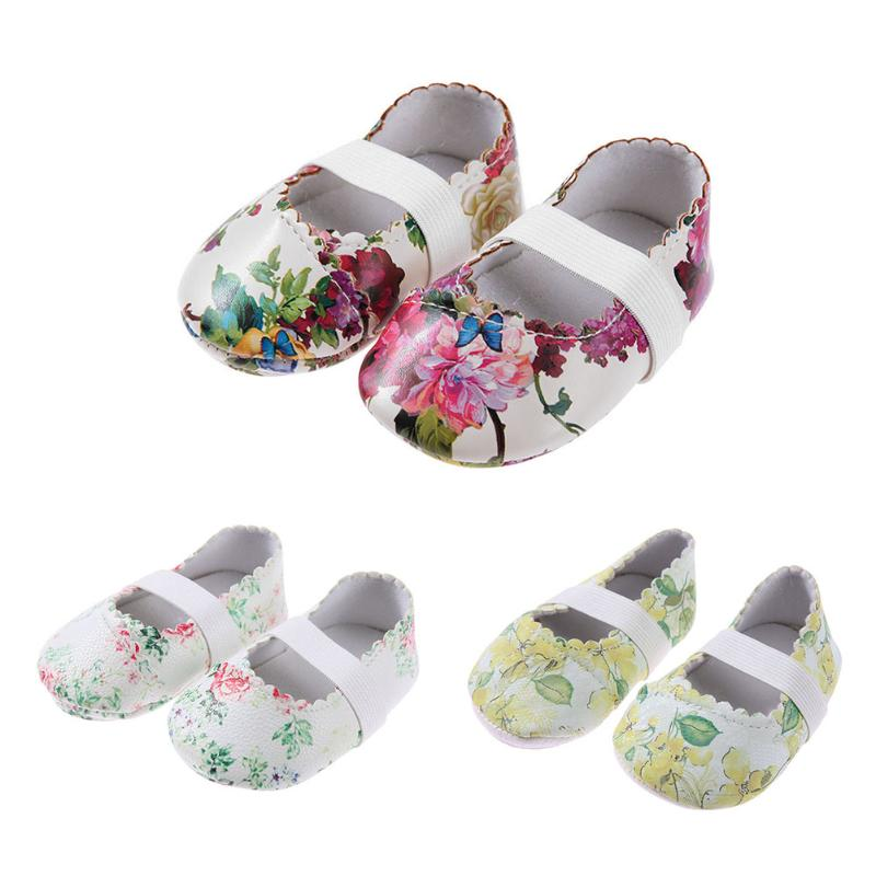 Babe Moccasins Shoes 2018 Spring Newborn Girls Dance Shoes Anti-Skid Toddler Cute Flower Side First Walkers Infant Girls Shoes
