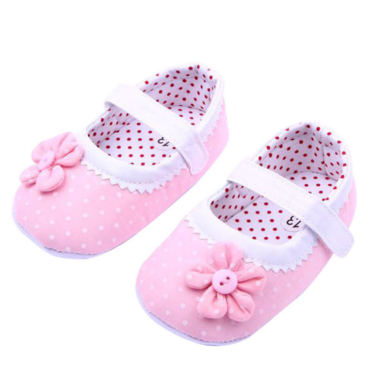 Mother & Kids Telotuny Baby Girl Shoes Anti Slip First Walker Dot Newborn Shoes Py802 11