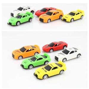 Image 3 - 5ピース/ロットプルバックカーのおもちゃ車子供レーシングカー赤ちゃんミニ漫画のプルバック子供のおもちゃボーイギフトwyq
