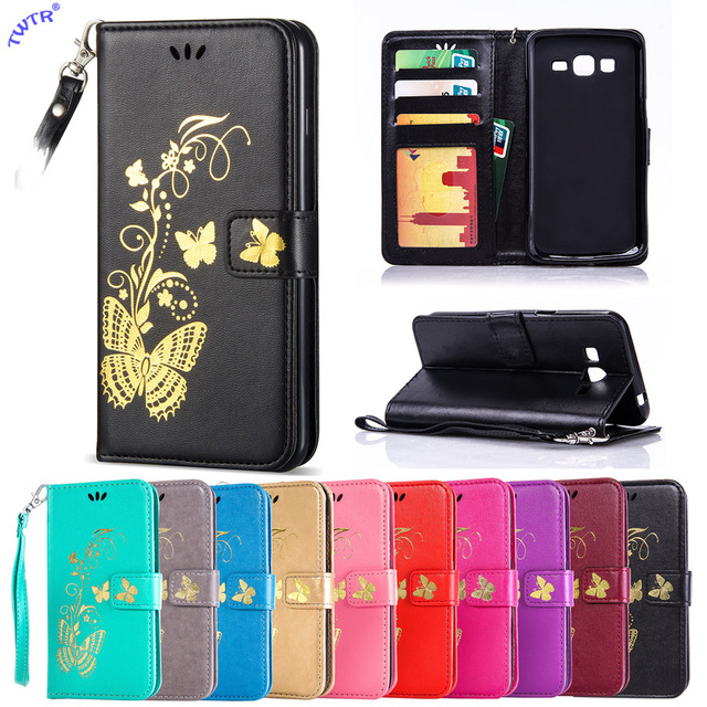 super popular d4c9d 69228 US $4.13 8% OFF|Flip Case for Samsung Galaxy Grand 2 Duos Grand2 G710 G7102  G7106 SM G710 SM G7102 SM G7106 Phone Leather Cover G 710 7102 7106-in ...