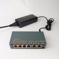 DSLRKIT 250M 6 Ports 4 PoE Switch Injector Power Over Ethernet 75W Max 90W With 52V