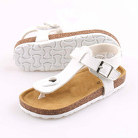 New Fashion Summer Children's Sandals Boys Girls Casual Beach Shoes Hook & Loop Breathable Non slip Cork Sandals Soft Bottom