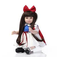 New Snow White princess dolls with long hair Dressup girl toys birthday gift high quality NPK collection bonecas reborn