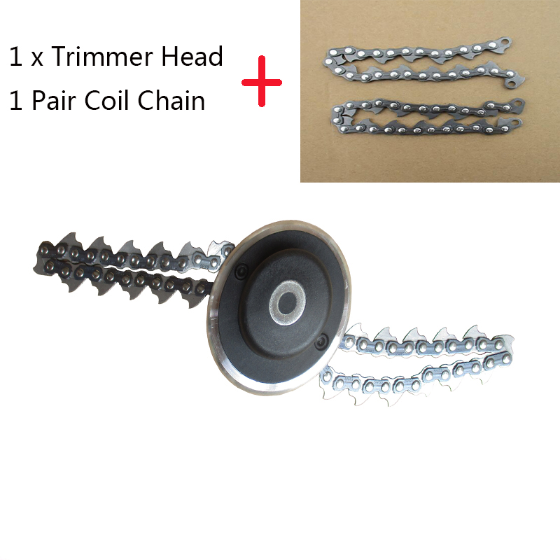 Universal 65mn Trimmer Head Coil Chain Brush Cutter Garden Grass Trimmer Head Upgraded With Thickening Chain For Lawn Mower Curing Cough And Facilitating Expectoration And Relieving Hoarseness Grass Trimmer