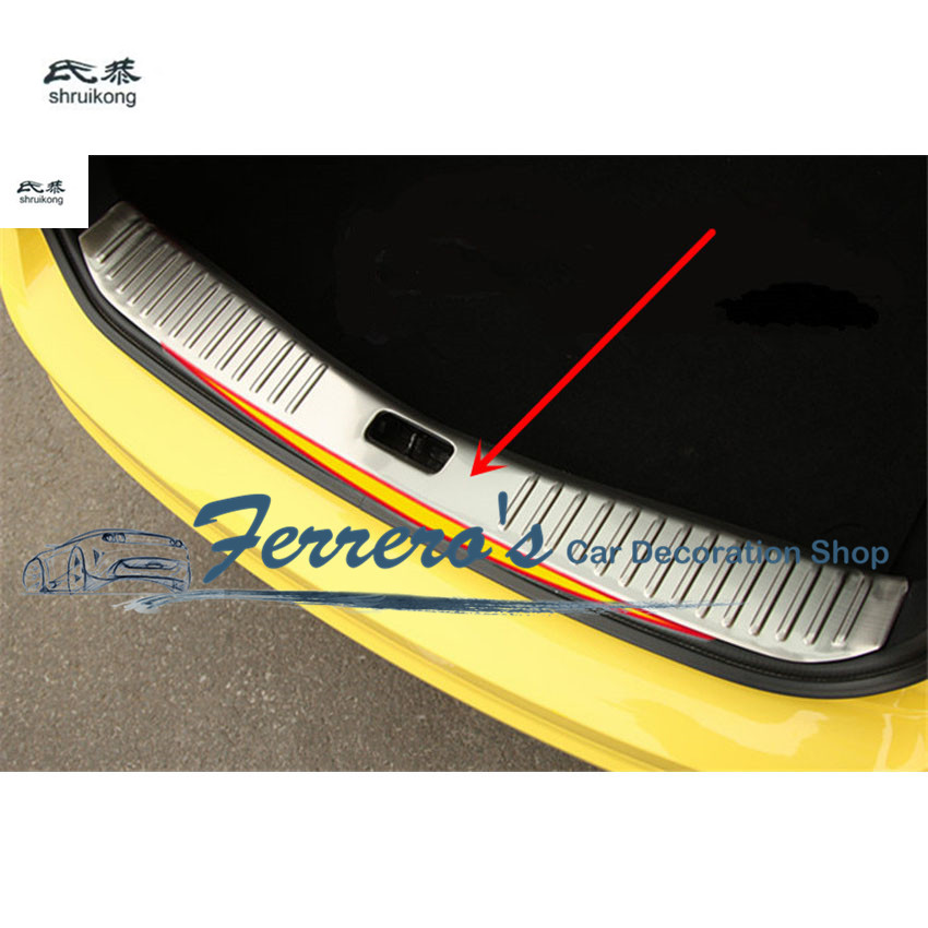 Free shipping 1pc trunk Door Sill Scuff Plates protective car stickers car styling FOR 2009-2011 Ford Focus 2 MK2 hatchback high quality chrome tail light cover for ford focus 08 11 hatchback free shipping