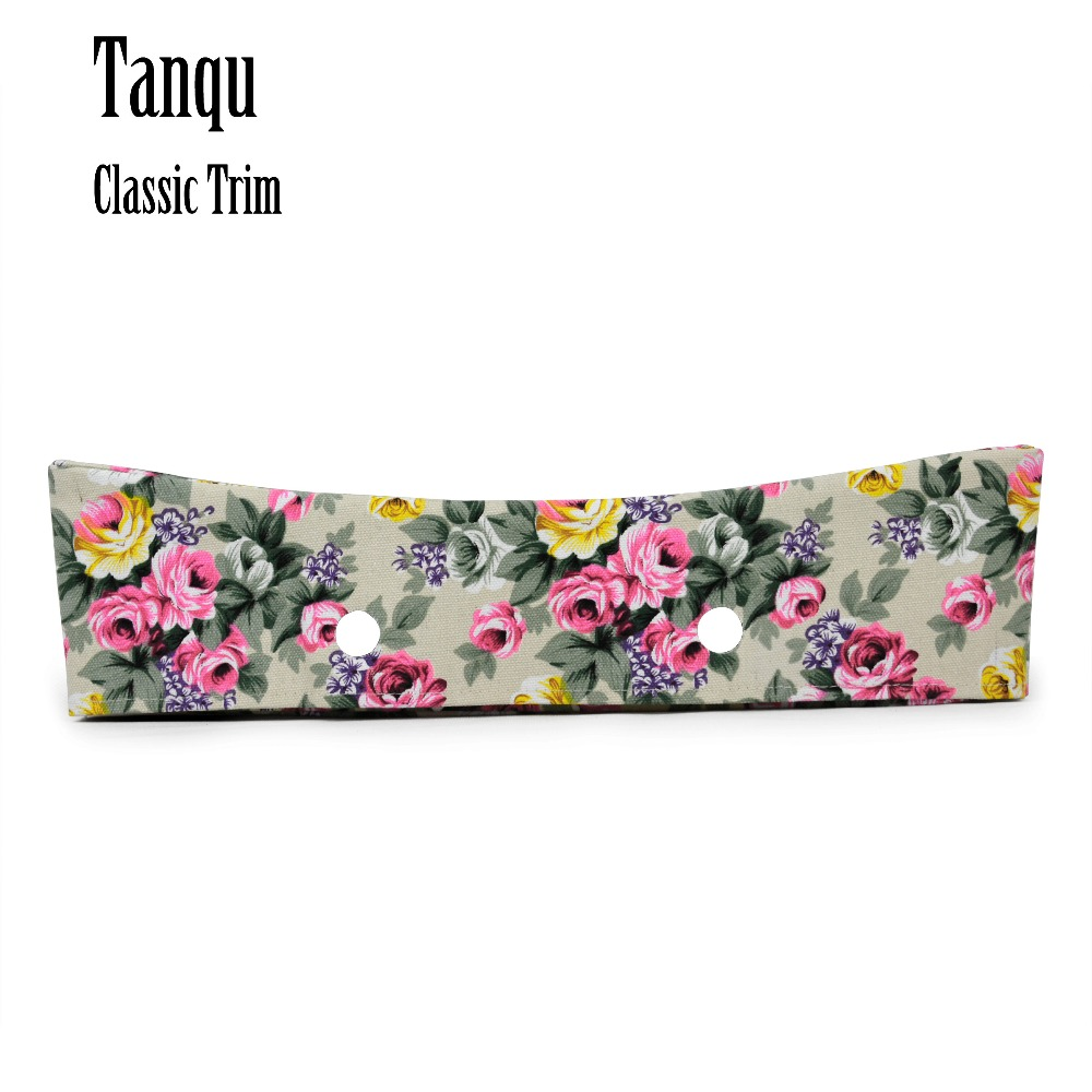 TANQU New Colorful Classic Floral Fabric Trim Cotton Fabric Decoration For Classic Big Obag Handbag O Bag Standard Body