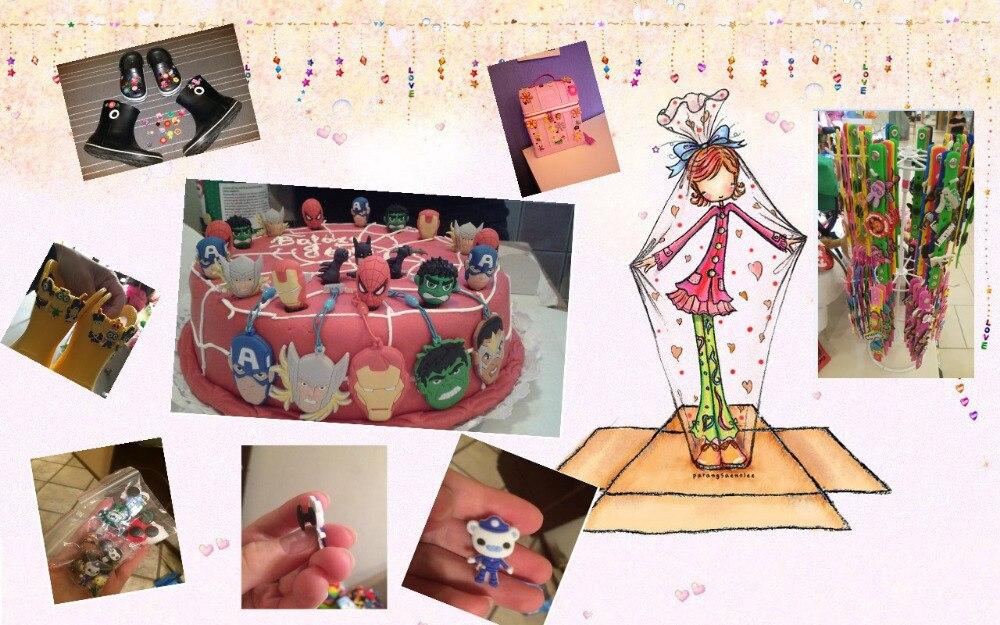 Image 5 - 100PCS Mickey Sesame Street Cartoon PVC Shoe Charms Avenger Shoe Accessories croc decorations jibz  shoe buckles kids giftpvc shoe charmsshoe charmsshoes accessories -