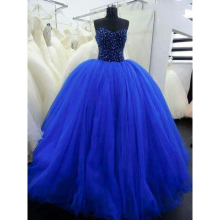 Unique Royal Blue Ball Gown Prom Dresses Party Gowns
