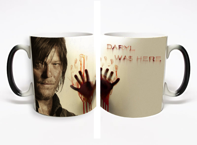 The Walking Dead Daryl Was Here Heat Sensitive Mug