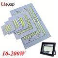 1 шт. 100% полномощный Светодиодный прожектор 10 Вт 20 Вт 30 Вт 50 Вт 70 Вт 100 Вт 150 Вт 200 Вт SMD5730 светодиодный PCB  алюминиевая пластина для Светодиодный ...
