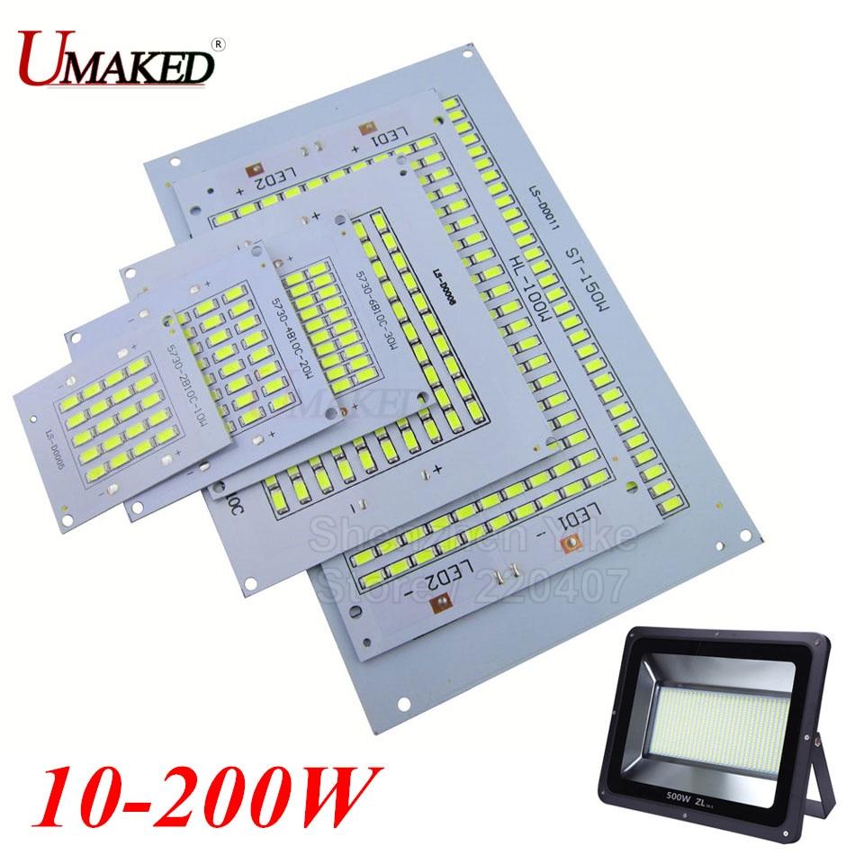 1PC 100% la potencia LED Floodling PCB 10W 20W 30W 50W 70W 100W 150W 200W SMD5730 led PCB Junta placa de aluminio para LED reflector