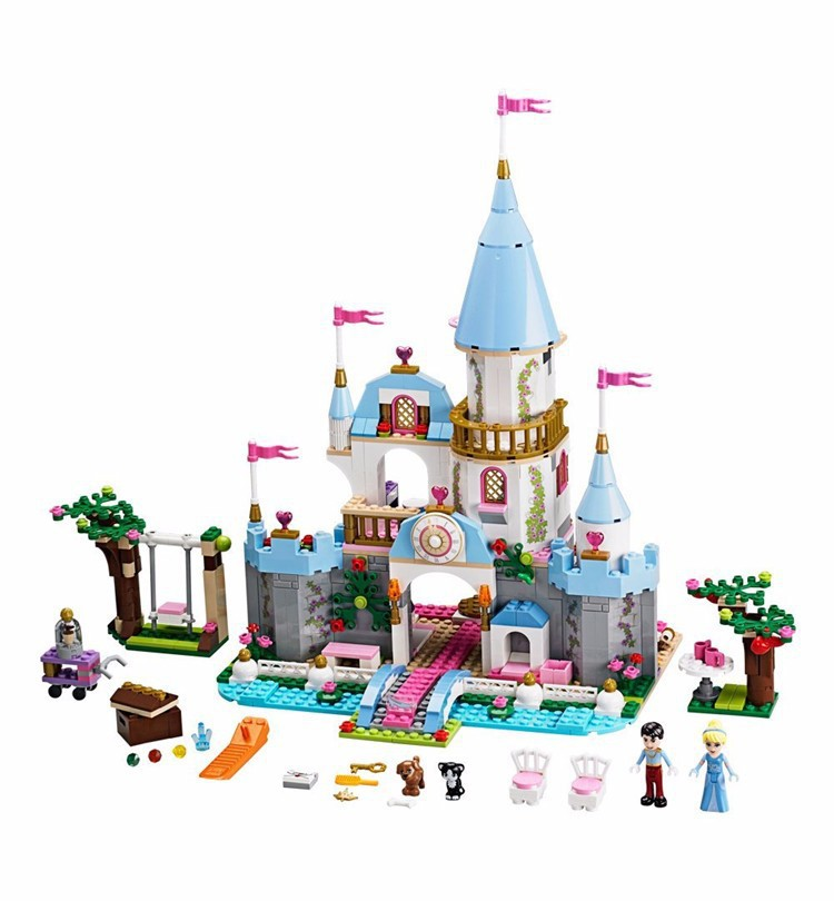 Building Block Cinderella Romantic Castle Princess Friend Blocks Bricks Girl Sets Toy Compatible With Legoe kazi 608pcs pirates armada flagship building blocks brinquedos caribbean warship sets the black pearl compatible with bricks