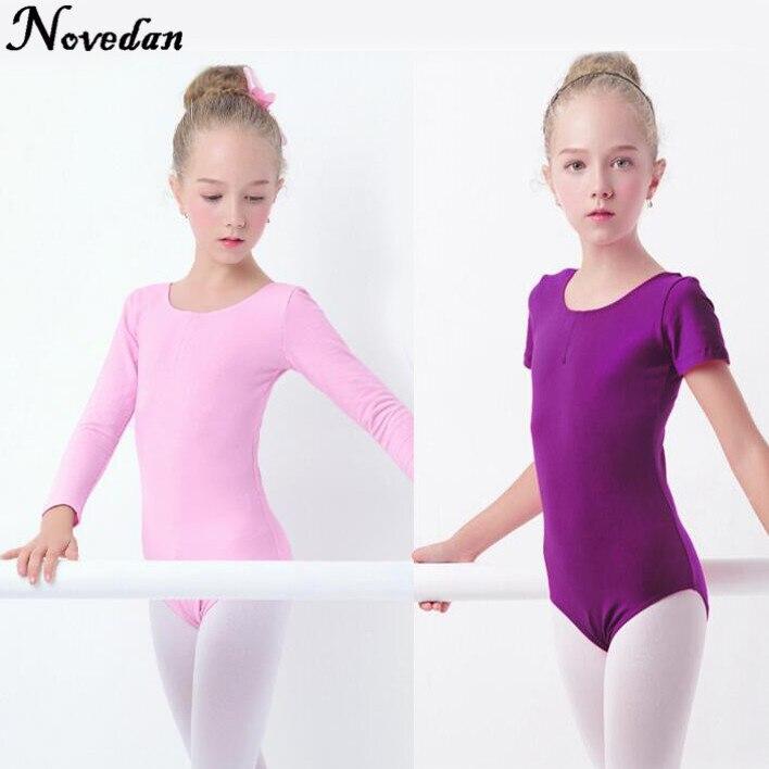 girls-font-b-ballet-b-font-leotard-dance-clothes-short-long-sleeve-dance-wear-toddler-kids-gymnastics-leotard-with-snap-crotch
