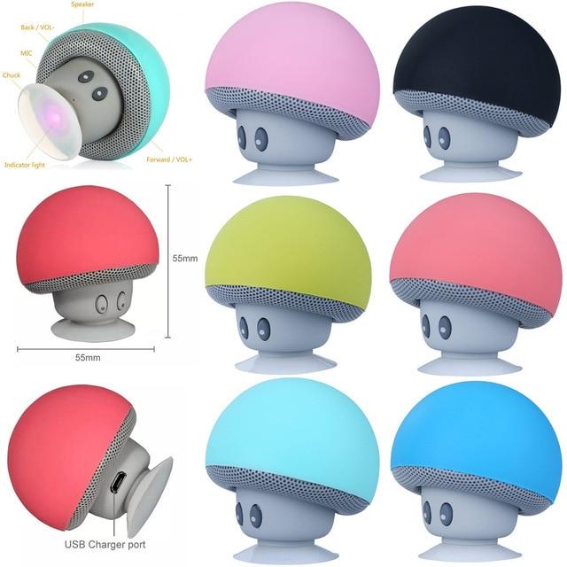 Altavoz Bluetooth inalámbrico de seta de dibujos animados a prueba de agua Mini Altavoz Bluetooth Audio soporte portátil al aire libre