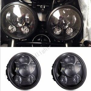 Image 1 - زوج (2 قطعة) انتصار سرعة/الشارع الثلاثي ، T509 ، 955 ، صاروخ 3 ، سرعة 4 ، ل هارلي LED المصابيح الأمامية