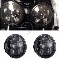 Pair (2 PCS )Triumph Speed/Street Triple, T509, 955, Rocket 3, Speed 4, Harley LED headlights