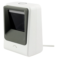 Wired Hands-free 1D 2D USB CCD Barcode Reader Scanner For Mobile Payment Computer Screen Scan, White
