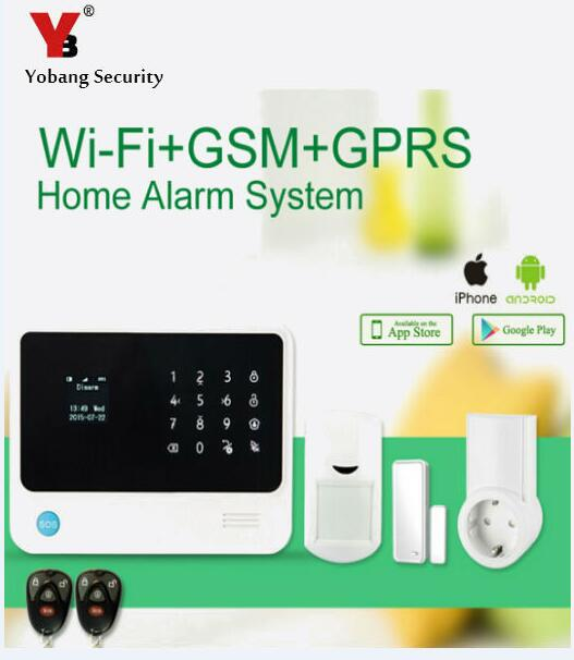 YoBang Security Android IOS APP Controls G90B GSM WIFI Home Alarm System Support Door Window Sensor And PIR Motion Detector .