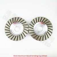 2PK 4inch Aluminum Based Diamond Grinding Cup Wheel 30 120 Bore22 23 16mm Diameter 100mm Grinding