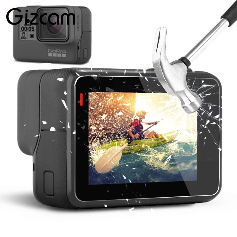 Digital Gear Bags Rapture Gizcam Tempered Glass Lcd Screen Film Protector With Lens Protective Film For Go Pro Gopro Hero 5 Sport Camera Accessories Shrink-Proof