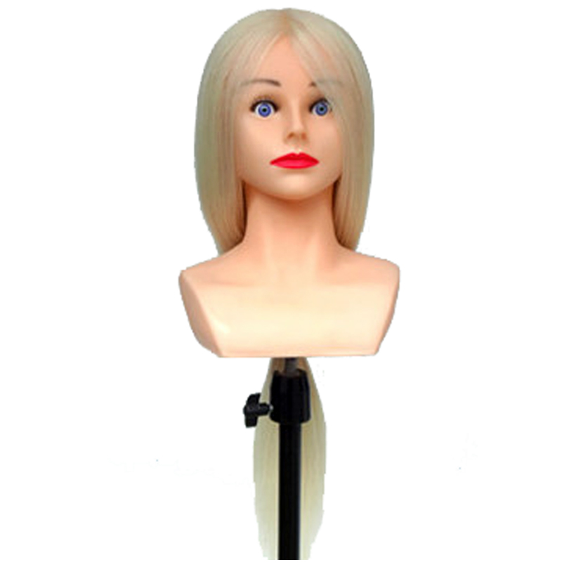 Mannequin Head Hairstyles 29inch 85% Human Hair Mannequins Hairdressing Doll Heads With Shoulder For Hairdressers